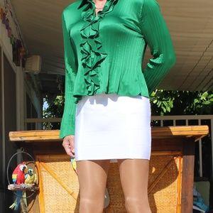 Sunny Leigh Emerald Green Blouse Size XL